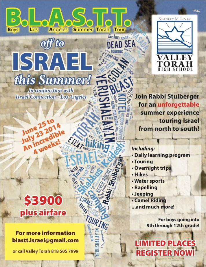 BLASTT, ISRAEL Tour flyer