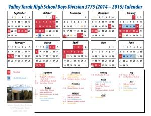Calendar - boys 14-15