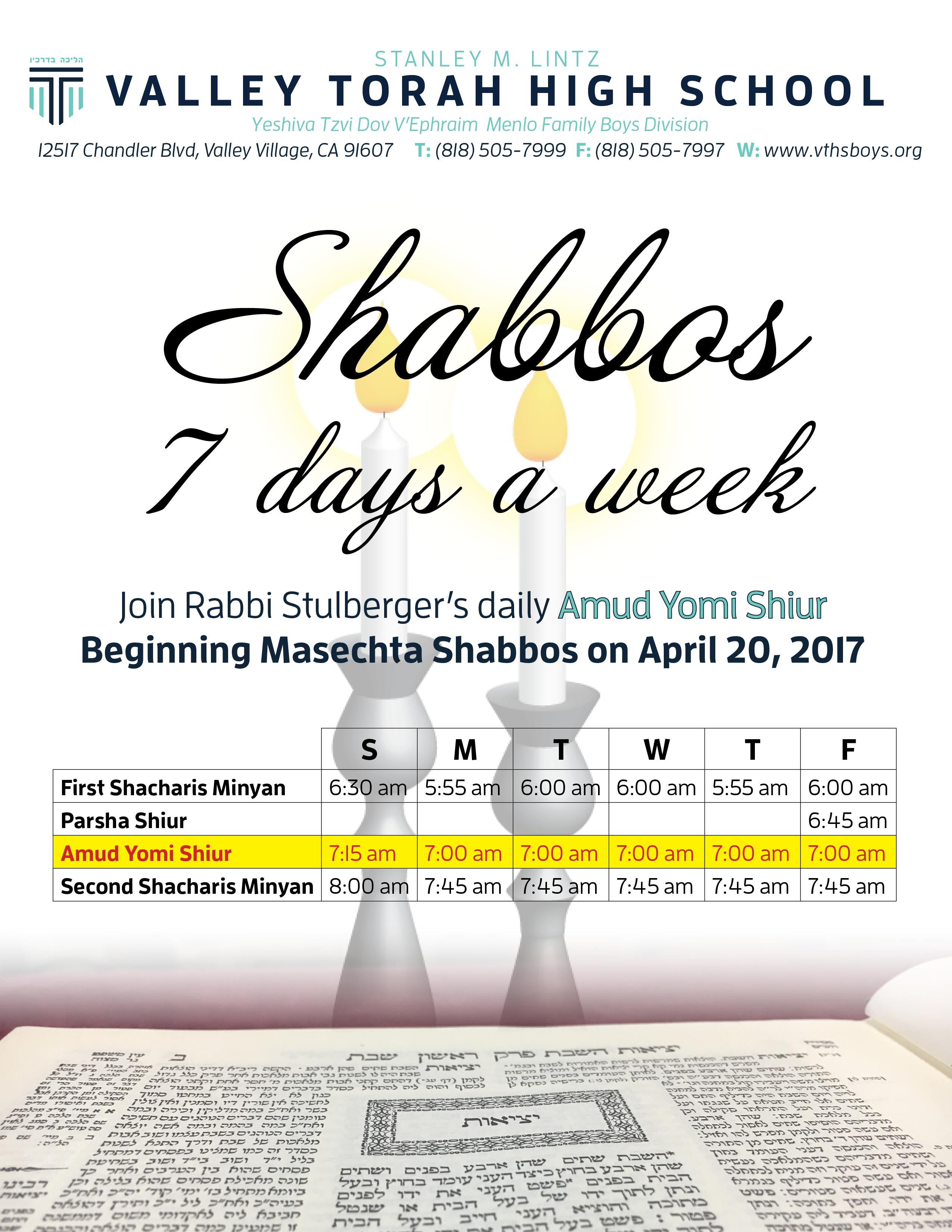 Shabbos flyer