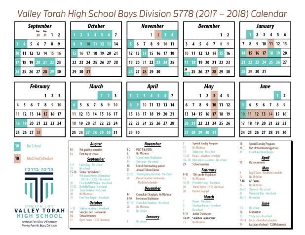 Calendar - boys 17-18